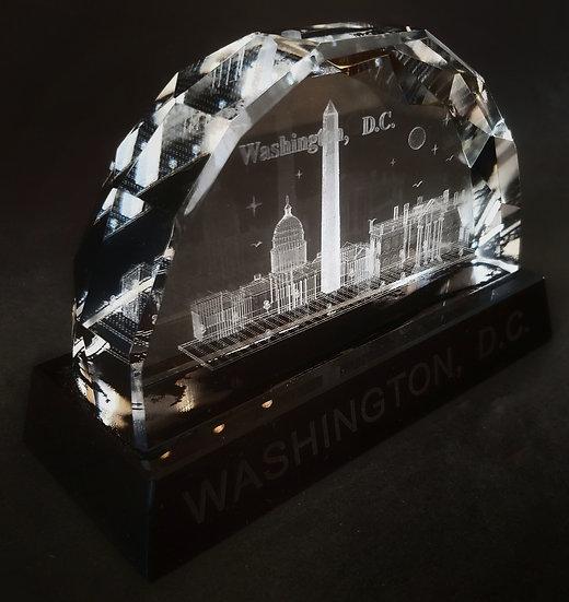 Crystal - White House Laser Etched Hologram