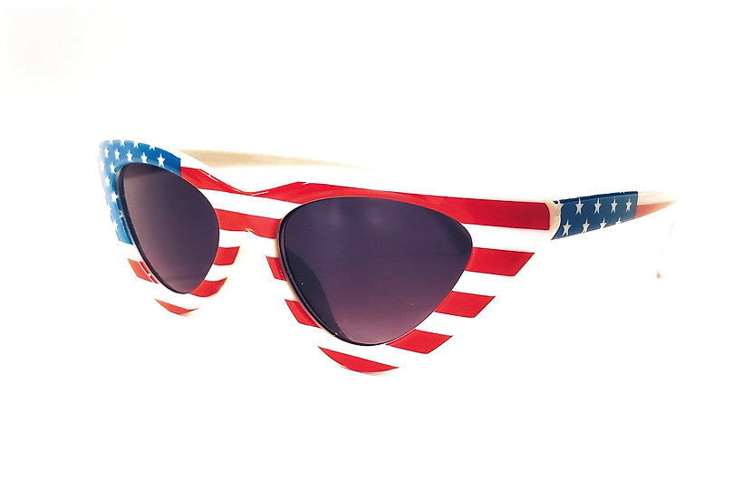 Sunglass - Red White and Blue Ladies