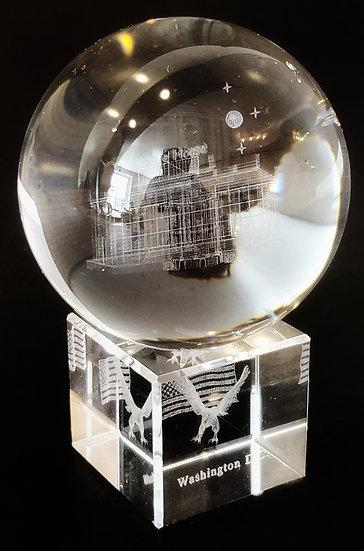 Crystal - Globe Laser Etched Hologram