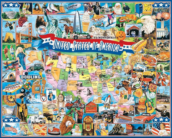 Puzzle - United States of America 1000 Piece Jigsaw