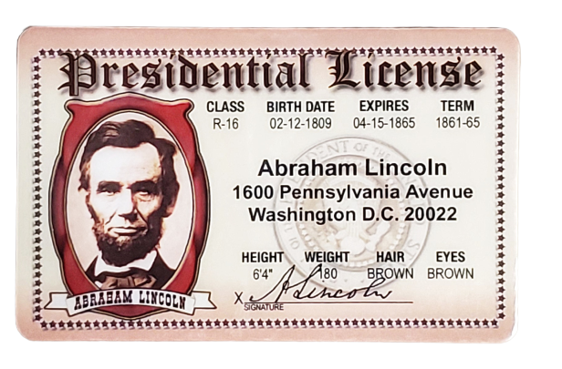Toy - Abraham Lincoln License