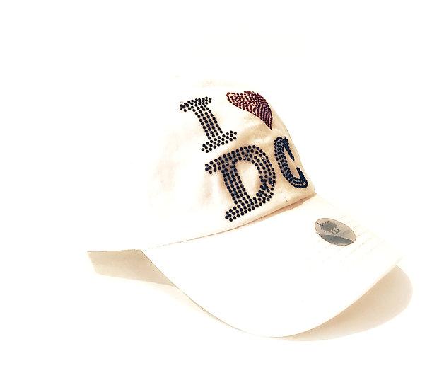 Adult Cap - I Heart DC - White