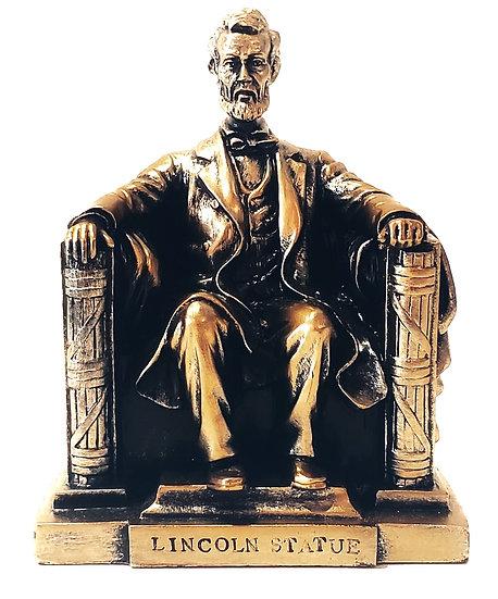 Replica - Lincoln Sitting Memorial - Bronze Color