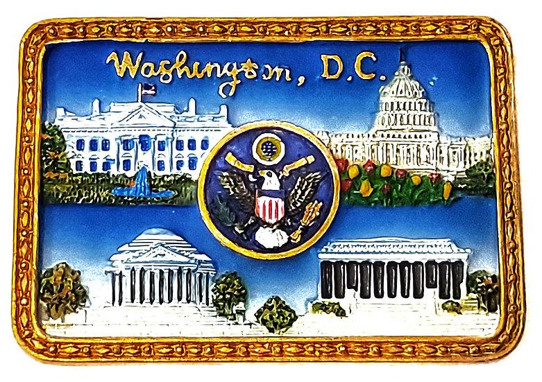 Magnet - Washington DC Square Gold
