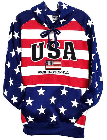 Adult RWB Flag Hoody Sweatshirt