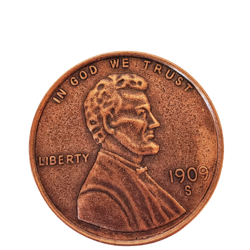 """Jumbo Coin - Collector One Cent 1909 Replica - 3"""""""