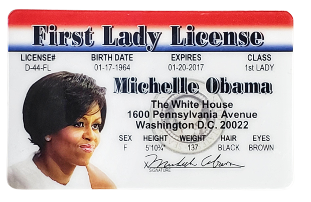 Toy - Michelle Obama First Lady License