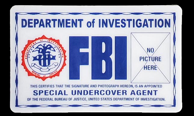 Toy - FBI Department of Investigation License