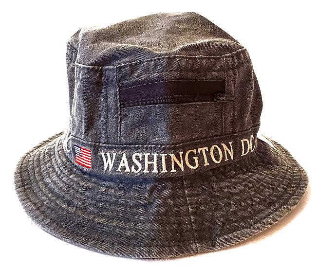 Bucket Hat - Washington DC w/zipper