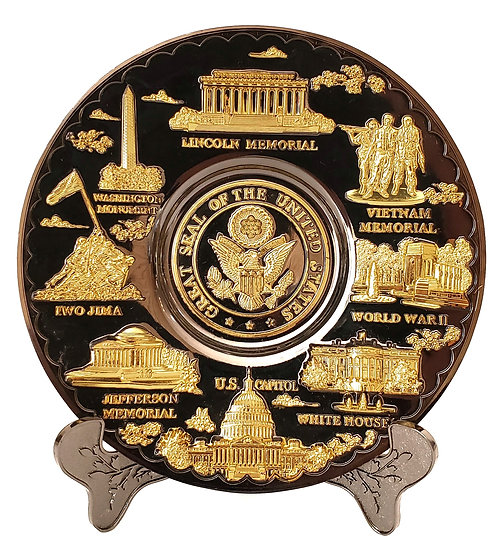 Gold Monument Plate