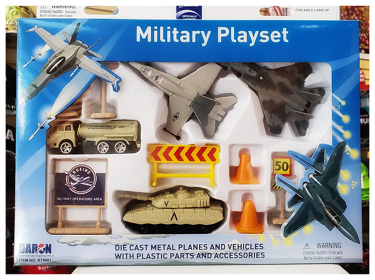 Toys - Die Cast Military Plane Tanks Playset