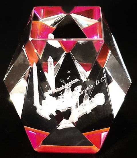 Crystal - Washington DC Laser Etched Hologram