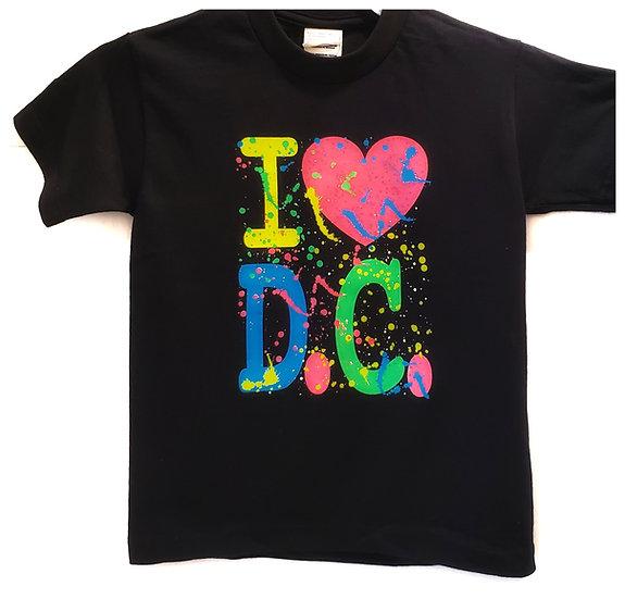 Kid T-Shirt - I Heart DC(Splatter)