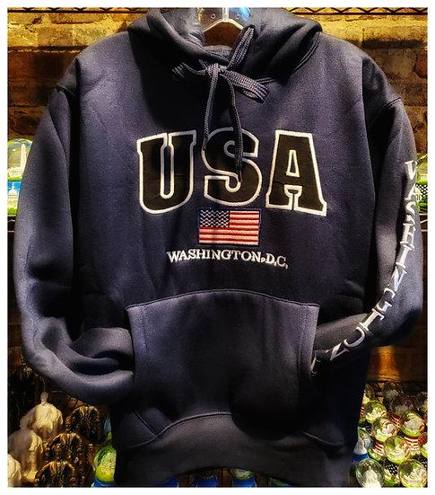 Adult USA Hoody Sweatshirt