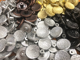 YES! We can electroplate Aluminum made buttons!!!