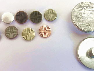All Aluminium Made Button and Nails (in assorted electroplated colors)