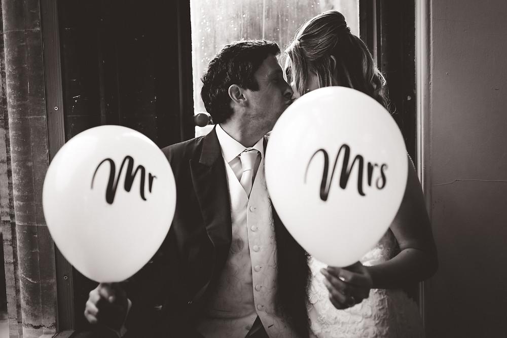 Mr & Mrs Wedding Balloons
