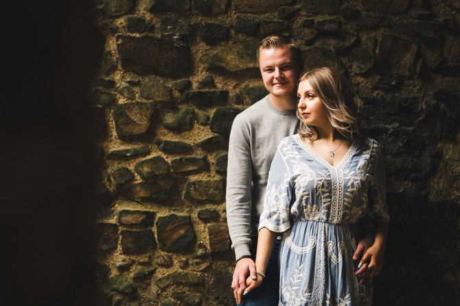 A pre wedding shoot at Castle Rising. Yes please!