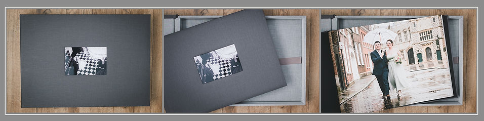 Large Boxed Linen Album