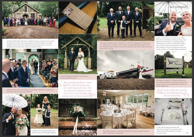 Julie & Craig | The Pheasant Hotel | Your East Anglian Wedding Magazine Feature