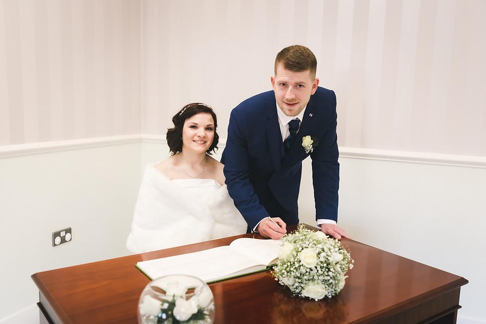 Spalding Registry Office wedding photo