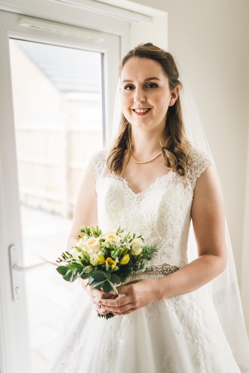 Bridal portrait. Flowers by Wendy Goodliff Floral Design