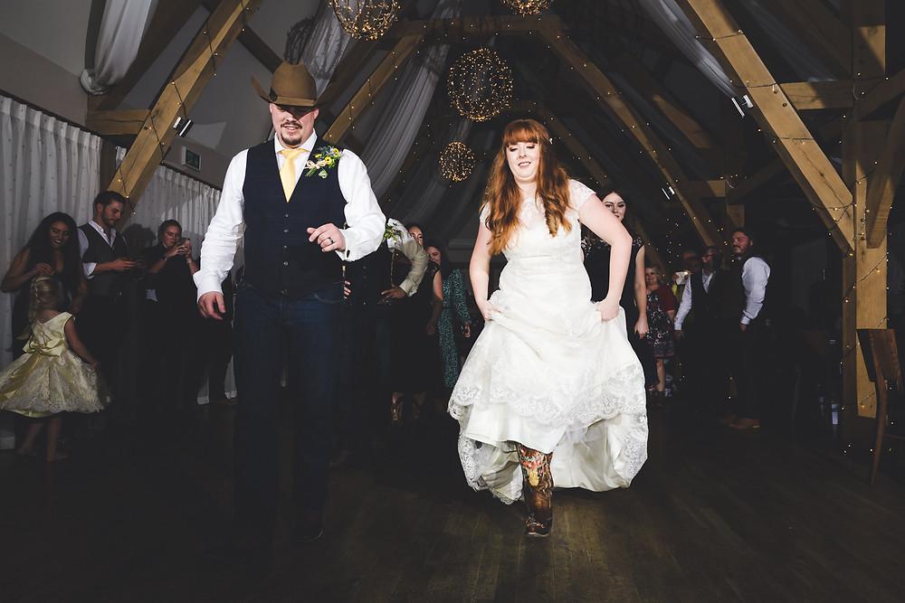 Line dance wedding photography