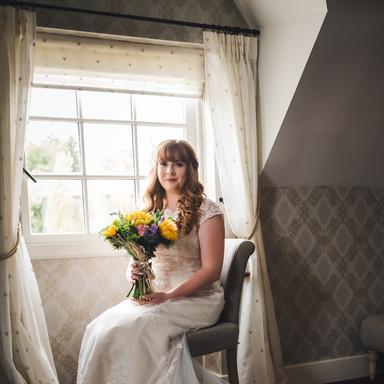 Bride by window light