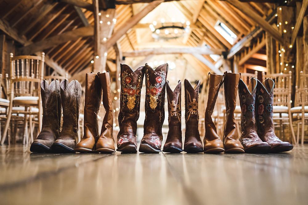 Brides & bridesmaids cowboy boots