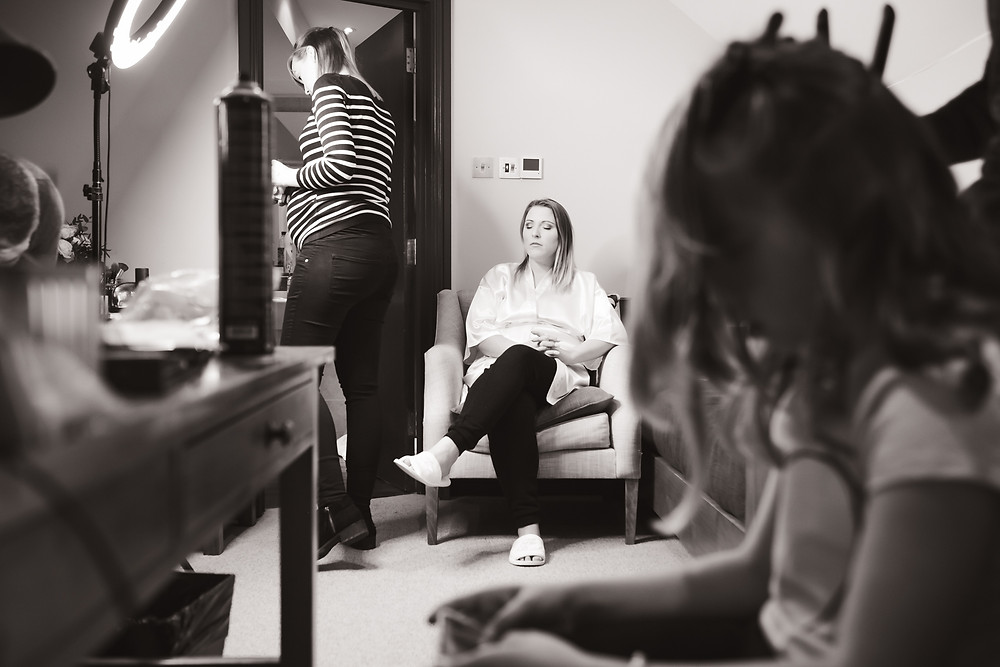 Bridal prep documentary photography, make up by Jayde