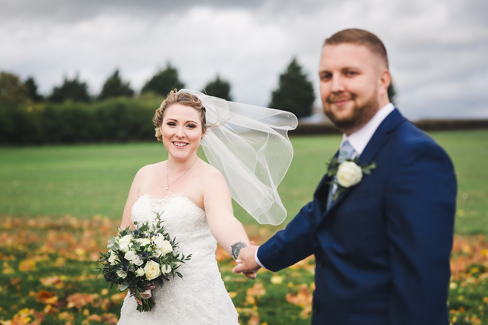 Autumn wedding photo