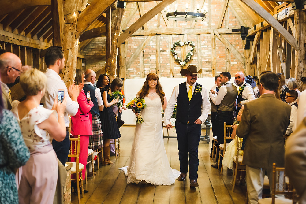 Ceremony Documentary photography at Bassmead Manor Barns