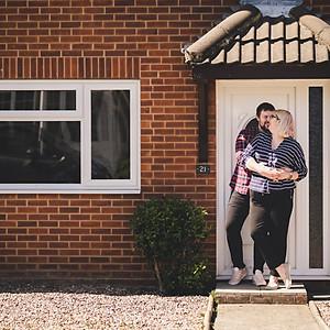 Lincolnshire Photographer / Ilze & Daniel's Doorstep Shoot