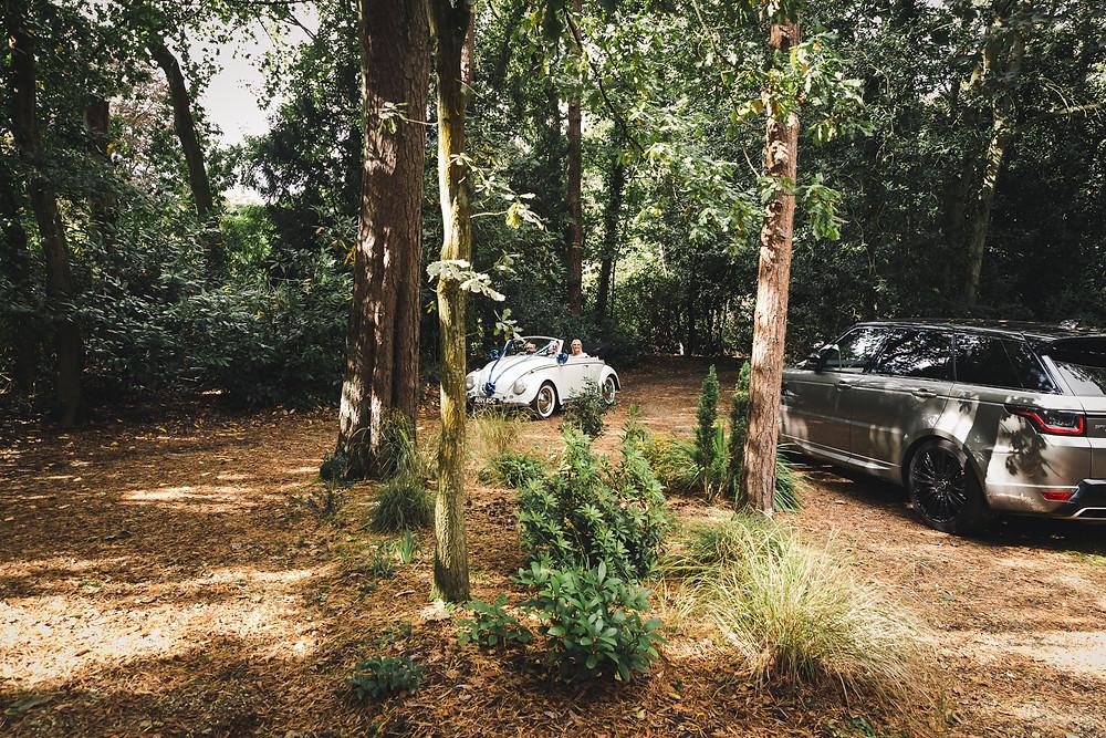 Arrive Vintage Beetle Daisy Wedding Car