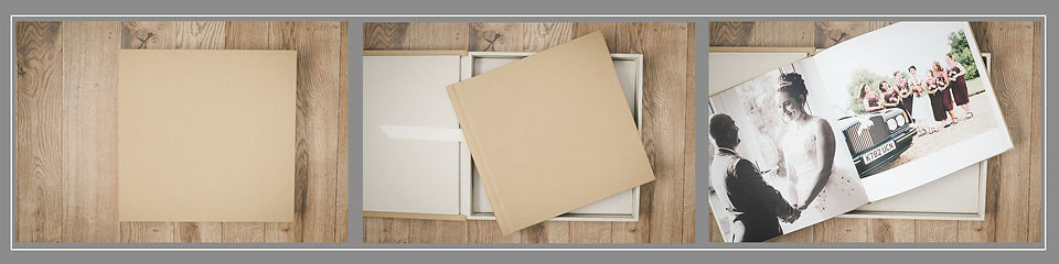 Boxed Square Linen Album