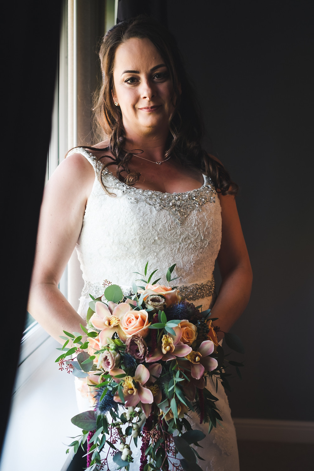 bride by window light