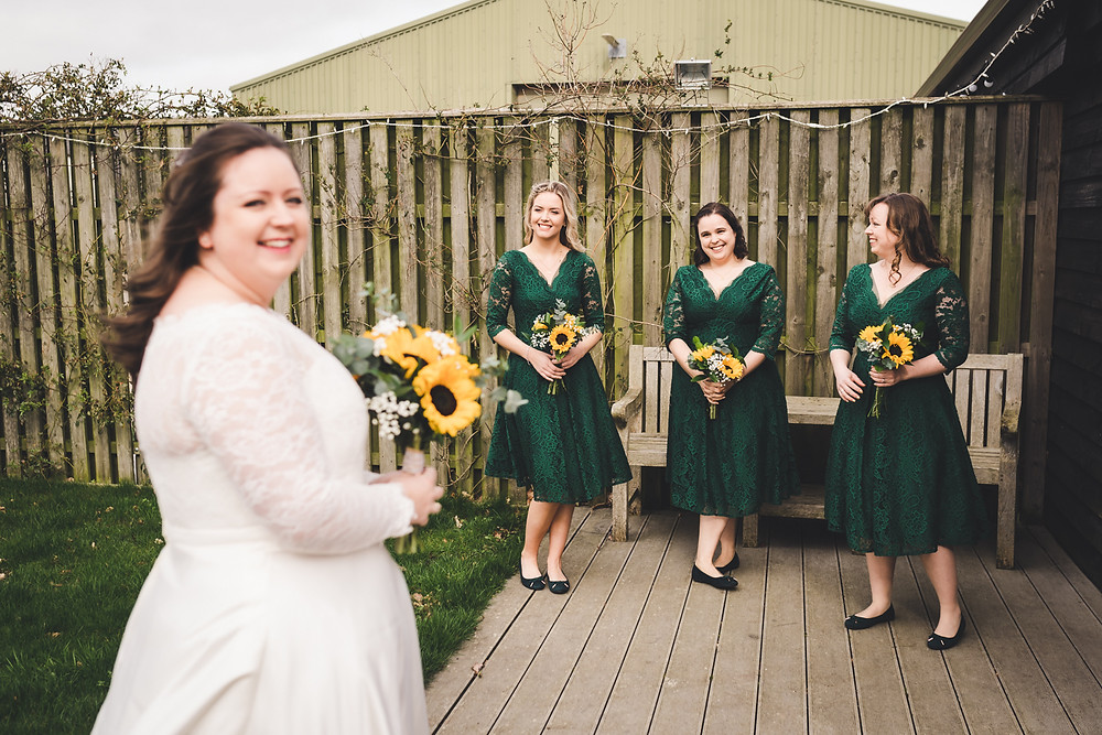 Green bridesmaids dress