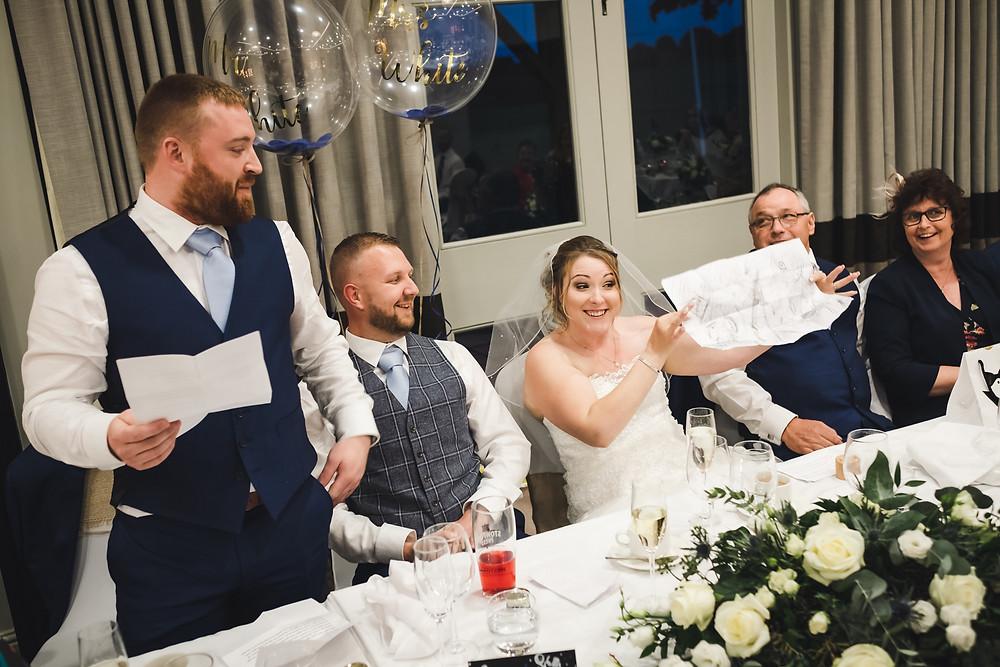 best man speech, bride reaction