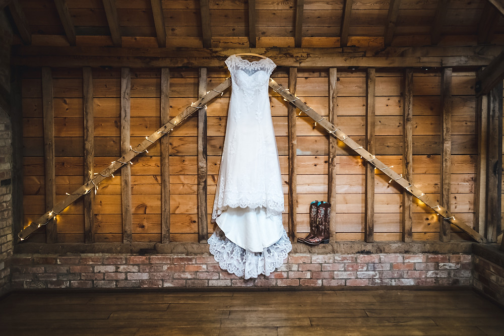Dress hanging in the Rickety Barn