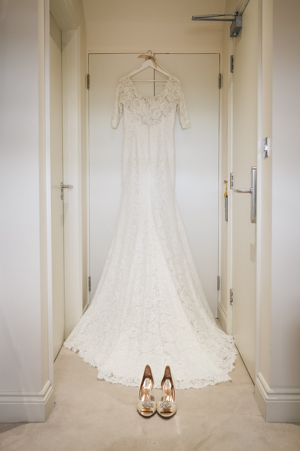 Wedding Dress by Pronovias from Evelyn Bridal, Huddersfield.