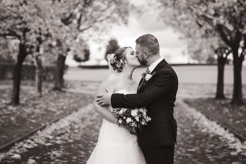 stormy wedding photo