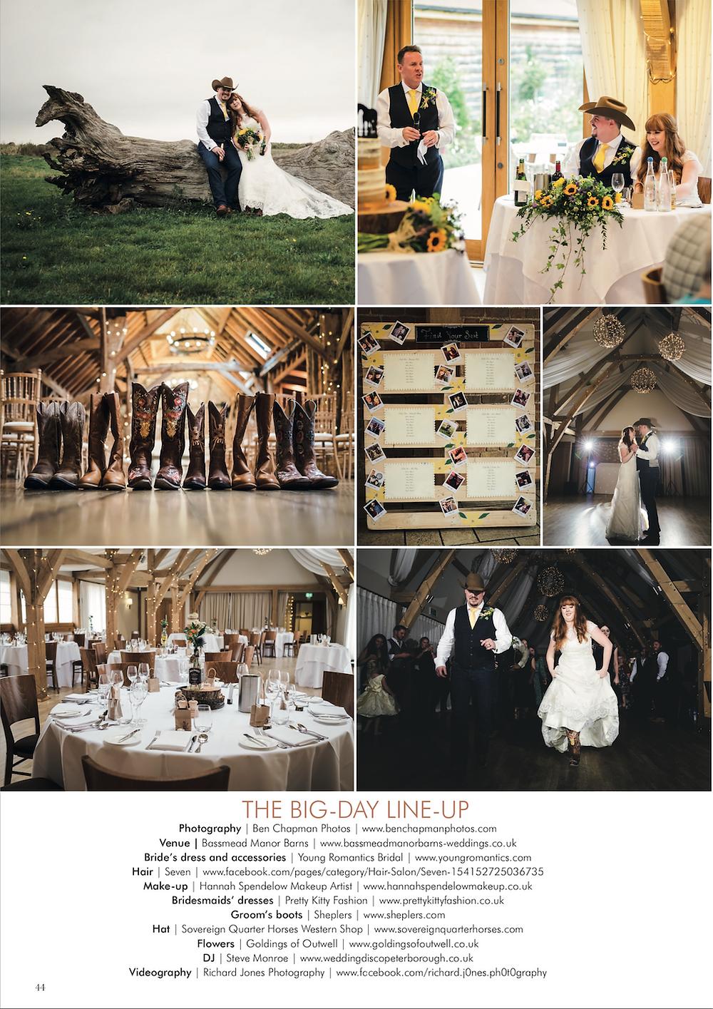 Kings Lynn wedding photographer published in wedding magazine