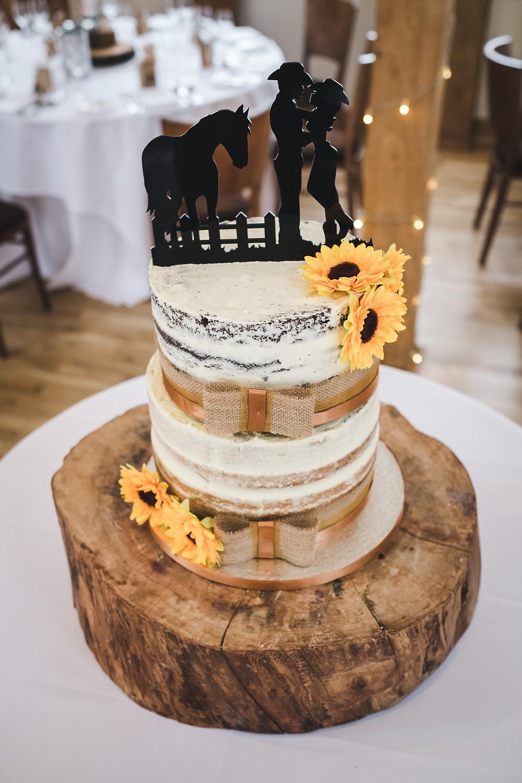 Cowboy naked wedding cake