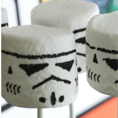 Storm Trooper Marshmallow Pops
