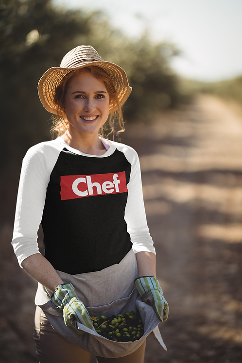 Supreme Chef Unisex 3/4 Sleeve Baseball Tee