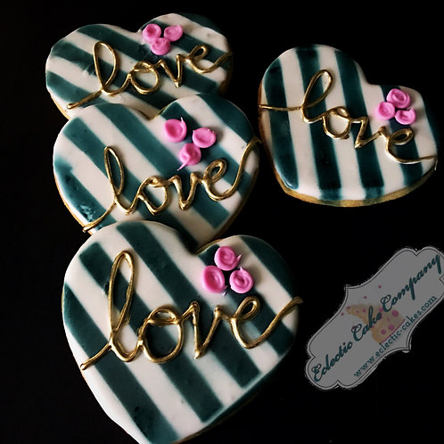 Striped Love Cookies