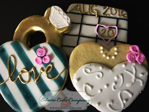 Wedding or Engagement Cookie Set