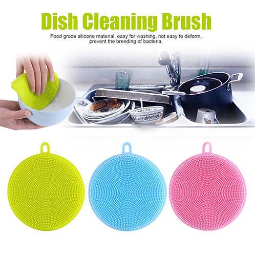 Silicone Dish Washing Sponge Scrubber Kitchen