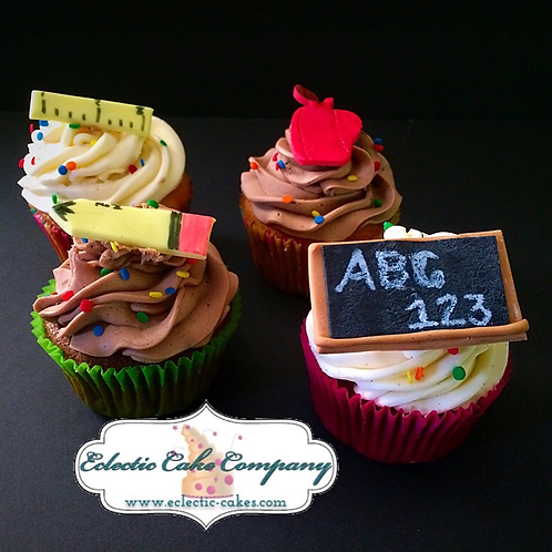 School Themed Cupcake Toppers