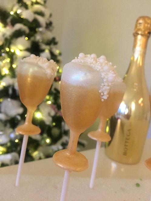 Champagne Glass Pops